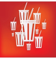 Cold drink web icon vector