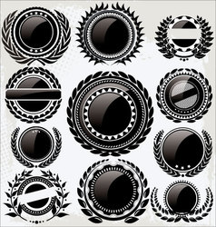 Set of vintage retro black and white labels vector