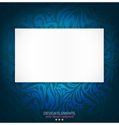 Blue delicate luxurious background vector