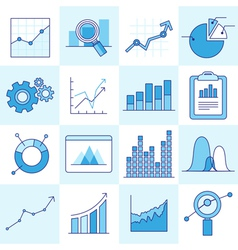Set of business graphs vector