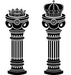 Pedestals of crowns stencils vector
