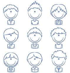 Boys avatar vector