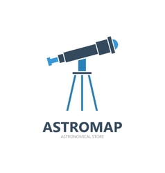 Telescope logo or symbol icon vector