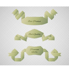 Green quality label vector