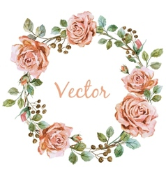 Rose wearth vector