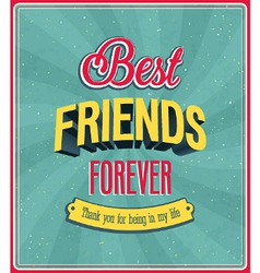 Best friends forever typographic design vector