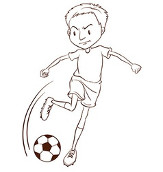 A plain sketch of a soccer player vector