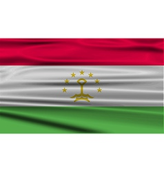 Flag of tajikistan with old texture vector