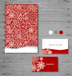 Holiday gift cards with snowflake vector