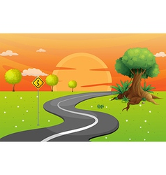 A winding road vector