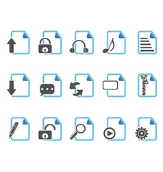 Document icons blue series vector