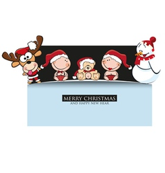 Merrychristmas greeting card vector