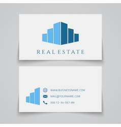 Busines card template real estate logo vector