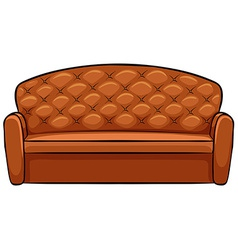 Brown sofa vector