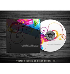 Colorful cd cover design vector