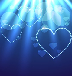 Beautiful background of heart vector