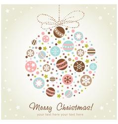 Stylized design christmas decoration vector