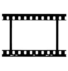 Black film strip vector