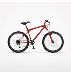 Realistic isolated bicycle vector