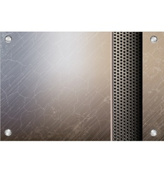 Metallic steel background vector