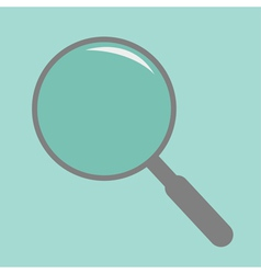 Magnifier empty flat design style vector