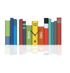 Hours in books vector
