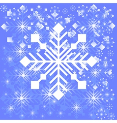 Snowflake light background vector