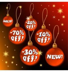 Discount christmas vector