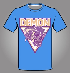 Demon theme t-shirt vector