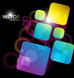 Abstract square shape vector