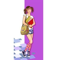Girl courier vector
