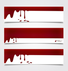 Happy halloween design banners blood dripping on vector