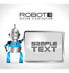 Robot design over white background vector