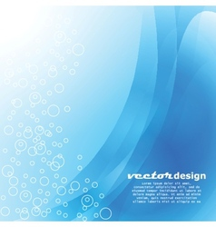 Blue water with bubbles background vector