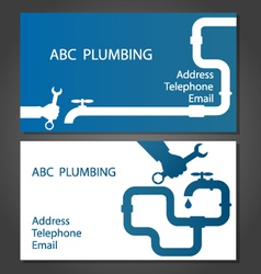 Business card for repair plumbing vector