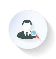 Search contact flat icon vector