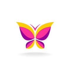 Colorfuk butterfly logo vector