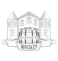 Vintage whiskey shop vector