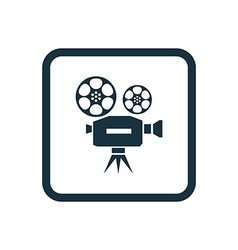 Video icon rounded squares button vector