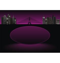 City frame purple vector