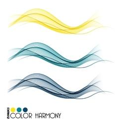 Set of color curve lines vector