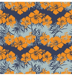 Hibiscus flowers seamless pattern vector