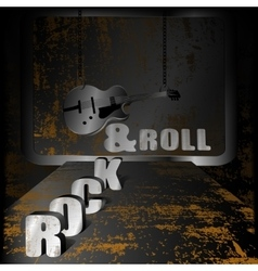 Iron background music and guitar on chains vector