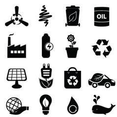 Eco icon set vector