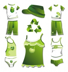 Eco clothes vector