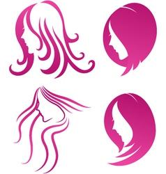 Fashion icon symbol of female beauty on purple vector