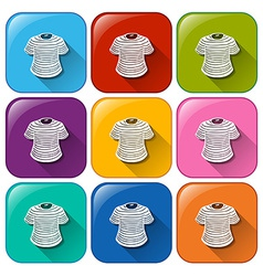 Icons with t-shirts vector