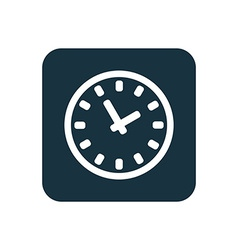 Time icon rounded squares button vector