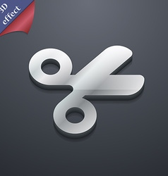 Scissors hairdresser tailor icon symbol 3d style vector