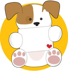 Cute puppy letter vector